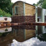 Old Oaks Shepherd Huts with wood-fired hot tub