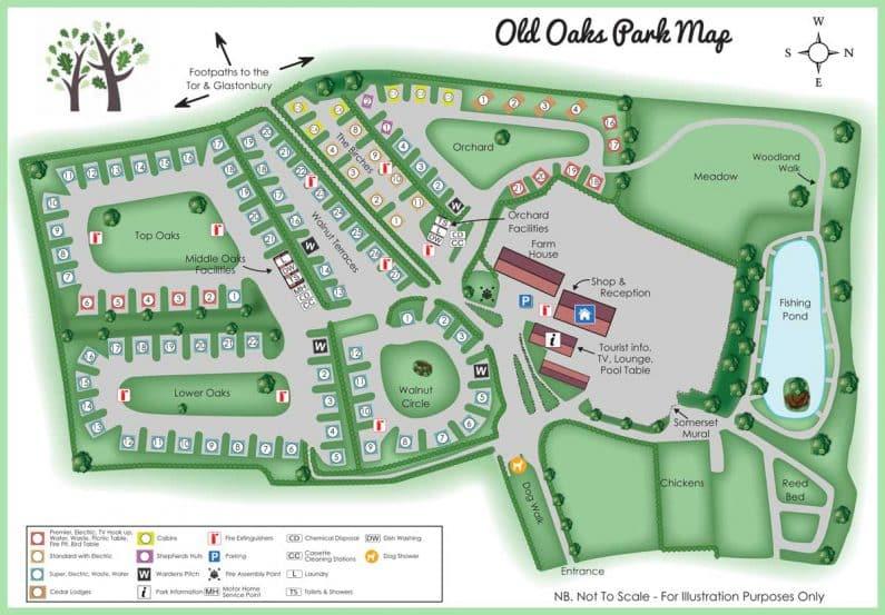 old oaks map