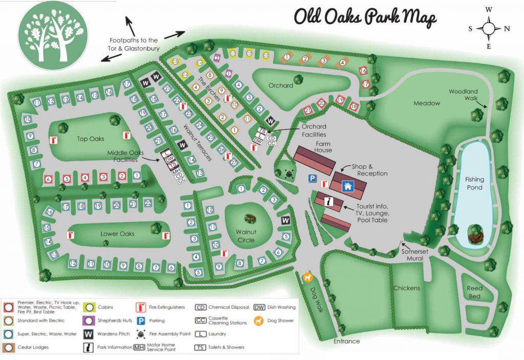 old oaks park map 2020